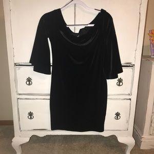 Soft off the shoulder black dress